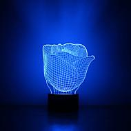 julblomma kontakt mörkläggning 3D LED nattlampa 7colorful dekoration atmosfär lampa nyhet belysning jul ljus