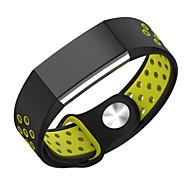 voor Fitbit charge2 horlogeband dubbele kleur sport siliconeriem ademend gat vervanging strap