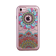 For Apple iPhone 7 7 Plus 6S 6 Plus Case Cover Datura Flowers Pattern Painted TPU Material Plating PC Frame Combo Phone Case