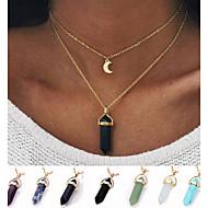 Dames Hangertjes ketting Turkoois Legering Kogelvorm Uniek ontwerp Eenvoudige Stijl Modieus Paars Lichtblauw Licht Groen Kleur1 Kleur2