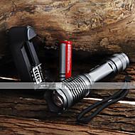Luci Torce LED Torce LED 2000 Lumens 5 Modo Cree XM-L T6 18650 AAA Messa a fuoco regolabile Impermeabili