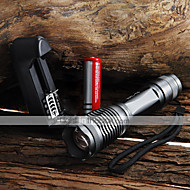Lights LED Flashlights/Torch Handheld Flashlights/Torch LED 2000 Lumens 5 Mode Cree XM-L T6 18650 AAA Adjustable Focus Waterproof