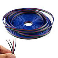 línea de cable de extensión 5m rgb color 4 para la tira llevada rgb 5050 de 4 pines 3528 espinal