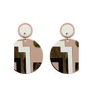 Druppel oorbellen Acryl Modieus Euramerican Acryl Cirkelvorm Geometrische vorm Roze+Wit Sieraden VoorBruiloft Feest Halloween Dagelijks