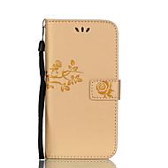 Na Etui na karty Portfel Z podpórką Flip Wytłaczany wzór Wzór Kılıf Futerał Kılıf Kwiat Twarde Skóra PU na SamsungA3 (2017) A5 (2017) A7