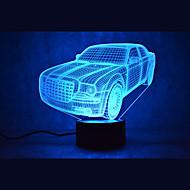 jul bil kontakt mörkläggning 3D LED nattlampa 7colorful dekoration atmosfär lampa nyhet belysning jul ljus