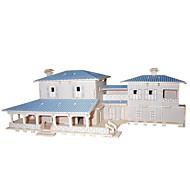 Jigsaw Puzzles DIY KIT 3D American Villa Logic & Puzzle Toys Building Blocks DIY Square Famous buildings Chinese Architecture
