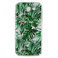 For Samsung Galaxy J3 J5 (2017) Case Cover Green Leaves Pattern Drop Glue Varnish High Quality TPU Material Phone Case J2 J5 J7 Prime J5 J7 (2016)