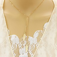 Women's Layered Necklaces Diamond Leaf Alloy Unique Design Euramerican Jewelry For Party Daily Casual 1pc