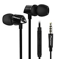 sec-cl52sイヤホン携帯電話携帯電話コンピュータの耳に有線プラスチック3.5mm音量コントロールノイズキャンセル