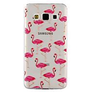 Para a galáxia de samsung a3 a5 (2017) caso tampa flamingo teste padrão gota cola verniz alta qualidade tpu material telefone caso a3 a5