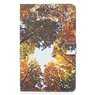 Για το φύλλο γαλαξιών samsung ε 9,6 κάλυψη περίπτωσης κίτρινο ξύλο μοτίβο βαμμένο καρτέλα stent πορτοφόλι pu υλικό δέρματος επίπεδη