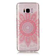 Voor samsung galaxy s8 plus s8 tpu materiaal imd proces roze taro patroon telefoon hoesje s7 rand s7 s6 rand s6 s5