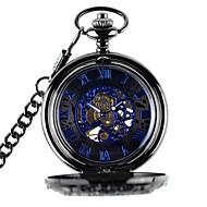 Women's Men's Skeleton Watch Pocket Watch Mechanical Watch Automatic self-winding Alloy Band Bronze