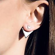 Stangøreringe minimalistisk stil Europæisk Mode Legering Trekantet Sølv Gylden Smykker For Daglig Afslappet 2 Stk.