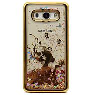 Samsung Galaxy j5 (2016) j3 j3 (2016) tapauksessa päällyspinnoituskerros virtaava neste kuvio takakansi tapauksessa seksikäs nainen