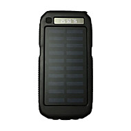 3led sos 8000mah Taschenlampe 5v2a Energienbank mit Solaraufladung für Handy