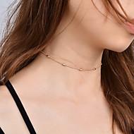 Dame Kort halskæde Smykker Enlig Snor Plastik Legering Mode Personaliseret Euro-Amerikansk minimalistisk stil kostume smykker Smykker Til