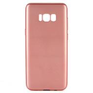 Kompatibilitás tokok Porálló Teljes védelem Case Tömör szín Puha Hőre lágyuló poliuretán mert Samsung S8 S8 Plus