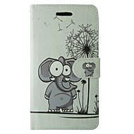 Voor Samsung Galaxy a5 2017 a3 2017 case cover cartoon paardebloem olifant volledige body cover met kaart en standcase a3 2016 a5 2016 a3