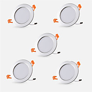 LED Χωνευτό Σποτ Θερμό Λευκό Ψυχρό Λευκό Κρεμαστά Φωτιστικά LED 5 τμχ