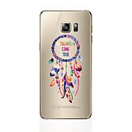 Til samsung galaxy s8 s8 plus telefon sag gennemsigtigt mønster fjer mønster blødt tpu til Samsung Galaxy s7 s6 kant plus s6 kant s6