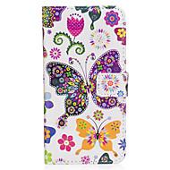 Dla samsung galaxy s8 s8 plus obudowa pokrywa kolor motyl wzór pu materiał karta sten twallet telefon sprawa s7 s6 s5 s7edge s6edge