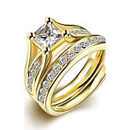 Βέρες Δαχτυλίδι Δαχτυλίδι αρραβώνων Μοντέρνα μινιμαλιστικό στυλ Νυφικό Τιτάνιο Ατσάλι Round Shape Κοσμήματα ΓιαΓάμου Πάρτι Ειδική