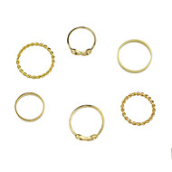 Damen Ring Basis Aleación Schmuck Für Normal 1 Set