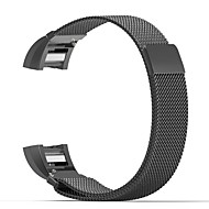 Voor fitbit lading 2 band milaan lus roestvrij stalen armband slimme horlogeband connector
