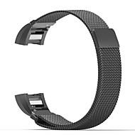 Til fitbit opladning 2 band milanese sløjfe rustfrit stål armbånd smart armbånds stik