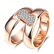 Dames Statementringen Ring Zirkonia Basisontwerp Luxe Sieraden Eenvoudige Stijl Brits Klassiek Modieus PERSGepersonaliseerd Euramerican