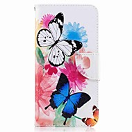 Za huawei p10 plus p10 lite držač kartica držač novčanika sa stalakom flip uzorak kućište punog kućišta slučaju leptir teško pu kože