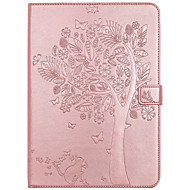 For Case Cover Card Holder Wallet with Stand Flip Embossed Full Body Case Tree Cat Butterfly Hard PU Leather for iPad (2017)  pro 9.7 air2 air 2
