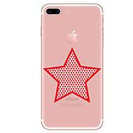 Voor Hoesje cover Transparant Patroon Achterkantje hoesje Geometrisch patroon Zacht TPU voor AppleiPhone 7 Plus iPhone 7 iPhone 6s Plus
