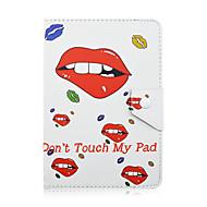 Szkinston lippen raken niet aan mijn tasje schokbestendig met staand slaap magnetisch patroon volleer leer voor alle 9,5 - 10,5 inch