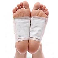 1 lådkropp toxin rengöring hälsosam bantning detox fötter fot patches pads kit (10 plåster och 10 lim)