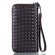 Etui til iphone 7 plus 6 plus 5,5 inches under den almindelige brug læder vævet mobiltelefon taske til iphone 7 6s 6 5