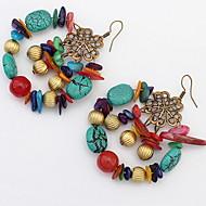 Kolczyki wiszące Kolczyki koła BiżuteriaKlasyczny Unikalny Logo Przyjaźń Turecki Modny Gotyckie Postarzane Afryka Bohemia Style Styl Punk