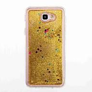 Til samsung galaxy j7 (2016) j5 primær flydende væske taske bag cover case glitter shine blød tpu til j5 (2016) j5 j3 j3 (2016) j3 prime