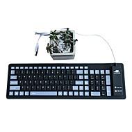 Waterdichte vouw mute silicagel 103 toetsen otg usb toetsenbord