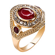 Damskie Duże pierścionki Pierscionek Kryształ Klasyczny Unikalny Cyrkonie Modny Postarzane Bohemia Style Osobiste euroamerykańskiej