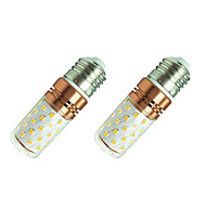 8W LED Mısır Işıklar T 60 SMD 2835 800 lm Sıcak Beyaz Beyaz 110 V 2 parça
