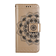 Taske til samsung galaxy s8 s8 plus case cover halv blomst mønster blank præget pu hud materiale kort stent telefon taske til galakse s7