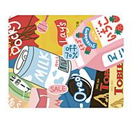 할로 원래 옷감 마우스 패드 간식 일본어 귀여운 천연 고무 패브릭 22 * 18cm