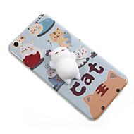Na Etui Pokrowce Wzór DIY Miękki Etui na tył Kılıf Kot Rysunek Miękkie Poliuretan termoplastyczny na AppleiPhone 7 Plus iPhone 7 iPhone 6