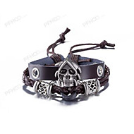 Muškarci Koža Narukvice Jewelry Vintage kostim nakit Koža Skull shape Jewelry Za Svakodnevica