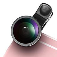 Lentille de téléphone portable lieqi lq-003 lentille de poisson objectif grand angle 0.5x lentille macro aluminium 10x kit de lentilles