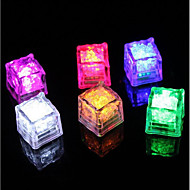 diamant ijsblokje vorm paars LED-licht (12-pack)