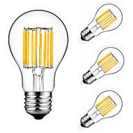 10W LED-glødetrådspærer A60(A19) 10 COB 900 lm Varm hvid Kold hvid Dekorativ AC 175-265 V 4 stk.
